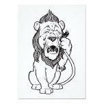 Cowardly Lion Custom Invite