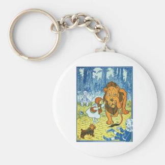 Cowardly Lion Keychain