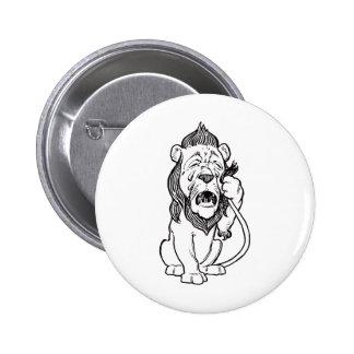 Cowardly Lion Pinback Button