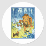 Cowardly Lion Round Stickers