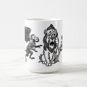 2106b23bf Cowardly Lion, Winged Flying Monkeys Wizard of Oz Coffee Mug