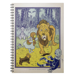 Cowardly Lion Wizard of Oz Book Page