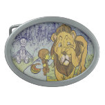 Cowardly Lion Wizard of Oz Book Page Oval Belt Buckle