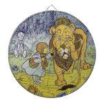 Cowardly Lion Wizard of Oz Book Page Dart Board