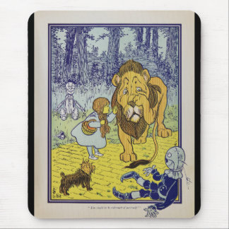 Cowardly Lion Wizard of Oz Book Page Mouse Pad