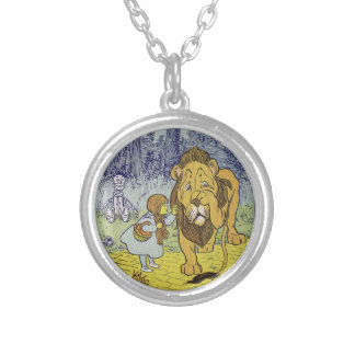 Cowardly Lion Wizard of Oz Book Page Necklace