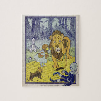 Cowardly Lion Wizard of Oz Book Page Puzzle