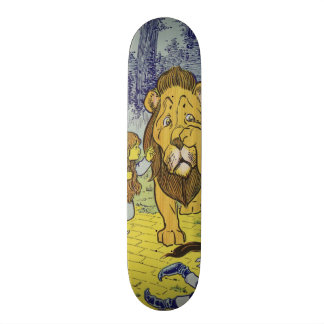 Cowardly Lion Wizard of Oz Book Page Skateboard