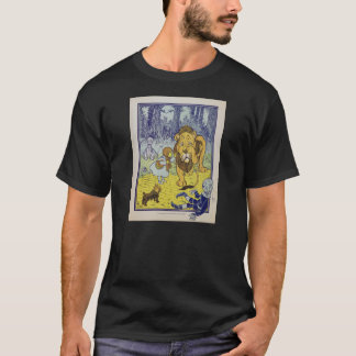 Cowardly Lion Wizard of Oz Book Page T-Shirt