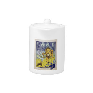 Cowardly Lion Wizard of Oz Book Page Teapot