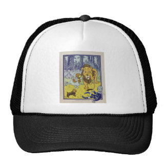 Cowardly Lion Wizard of Oz Book Page Trucker Hat