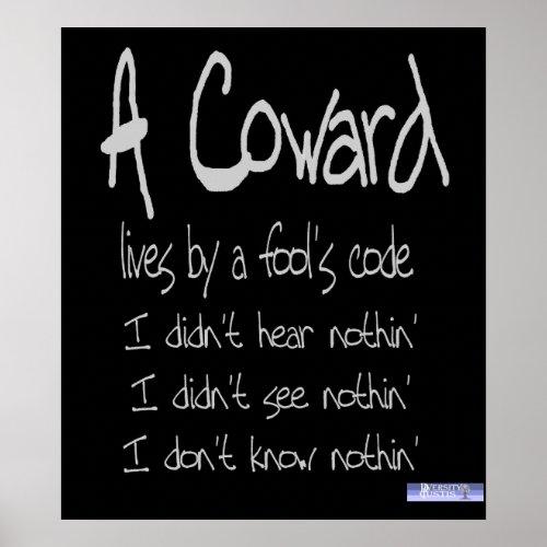 Coward's Code Poster