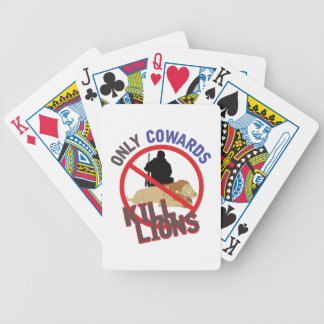 Cowards Kill Lions Bicycle Playing Cards