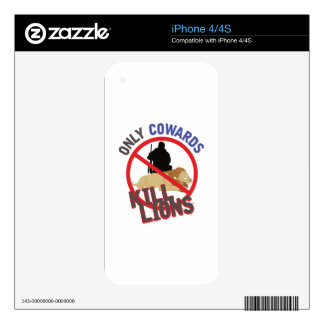 Cowards Kill Lions iPhone 4S Decal
