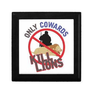 Cowards Kill Lions Jewelry Box