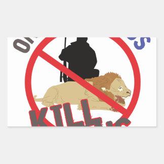 Cowards Kill Lions Rectangular Sticker