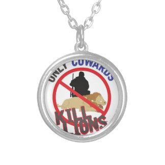 Cowards Kill Lions Round Pendant Necklace