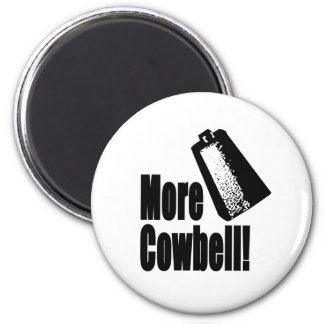 Cowbell 2 Inch Round Magnet