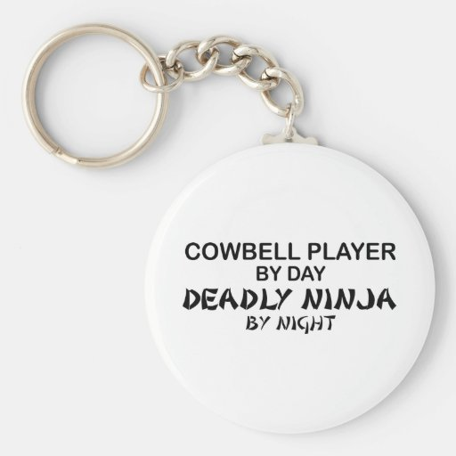 Cowbell Deadly Ninja by Night Basic Round Button Keychain