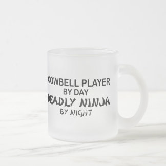 Cowbell Deadly Ninja by Night Frosted Glass Coffee Mug