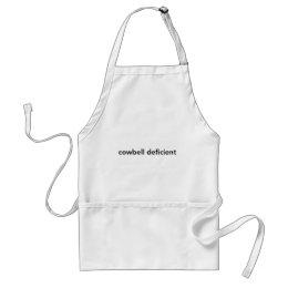 Cowbell Deficient Adult Apron