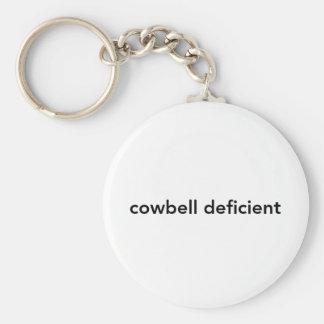 Cowbell Deficient Basic Round Button Keychain