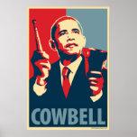 Cowbell - Obama parody poster