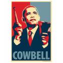 Cowbell: Obama Parody Poster shirt
