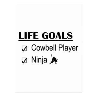Cowbell Player Ninja Life Goals Postcard