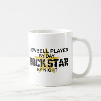 Cowbell Player Rock Star by Night Classic White Coffee Mug