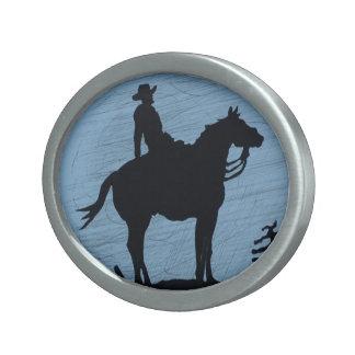 Cowbot on Horse Belt Buckle