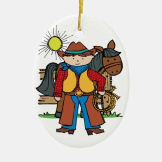 Cowboy3 Ceramic Ornament