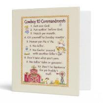 Cowboy 10 Commandments - Farm Fun Binder