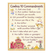 Cowboy 10 Commandments - Farm Fun Letterhead