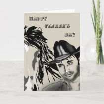 Cowboy 2 - Happy Father's Day Card