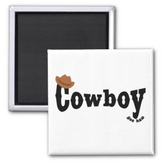 cowboy 2 inch square magnet