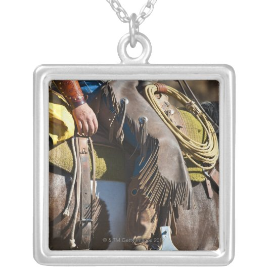 Cowboy 2 silver plated necklace