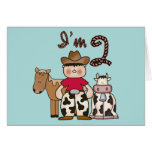 Cowboy  2nd Birthday Invitations Greeting Cards