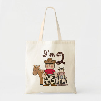 Cowboy 2nd Birthday Tote Bag Canvas Bag