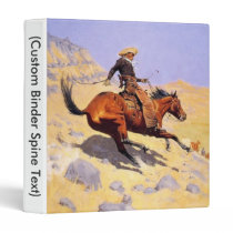 Cowboy 3 Ring Binder