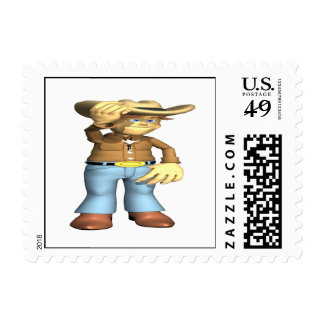 Cowboy 4 stamp
