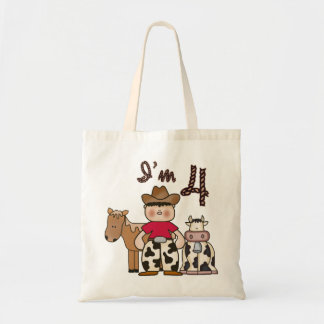 Cowboy 4th Birthday Canvas Bags