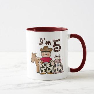 Cowboy 5th Birthday Mug
