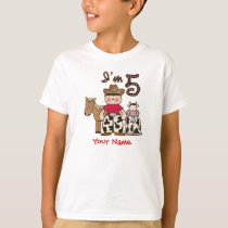 Cowboy  5th Birthday T-Shirt