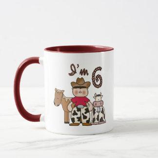 Cowboy 6th Birthday Mug