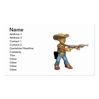 Cowboy 7 Double-Sided standard business cards (Pack of 100)