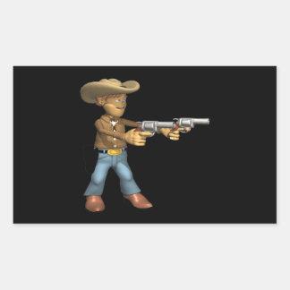 Cowboy 7 rectangular sticker
