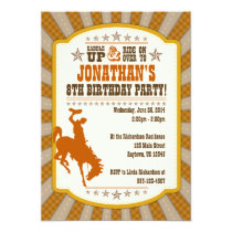 Cowboy 8th Birthday Party Invitation