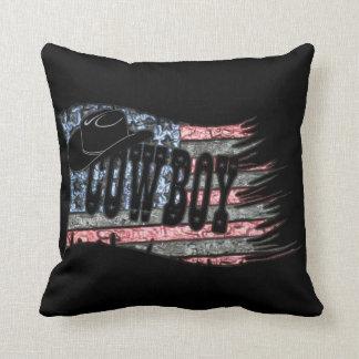 Cowboy Abstract Throw Pillow