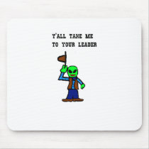 Cowboy Alien Cartoon Mouse Pad